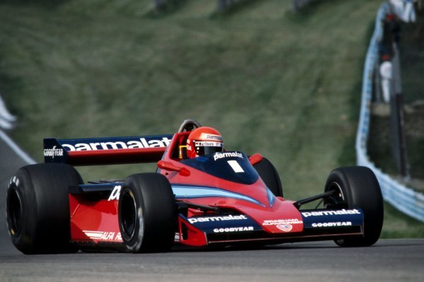 Niki Lauda (AUT) Brabham BT45 retired from the race on lap 29 with a blown engine. United States Grand Prix (East), Rd 15, Watkins Glen, USA, 1 October 1978.  BEST IMAGE