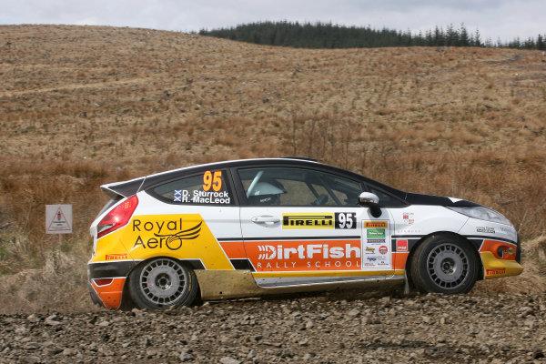 2013 MSA British Rally Championship, Pirelli Richard Burns Foundation Rally, Carlisle. 4th - 5th May 2013. Ruary MacLeod / Drew Sturrock Ford Fiesta. World Copyright: Ebrey / LAT Photographic.