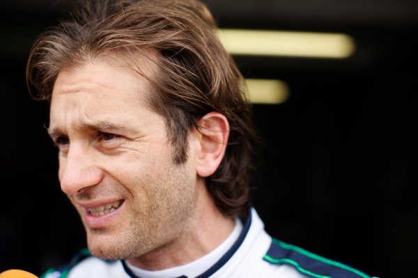 FIA Formula E Test Day, Donington Park, UK.  3rd - 4th July 2014.  Jarno Trulli, Trulli GP. Photo: Zak Mauger/FIA Formula E ref: Digital Image _P7T1066