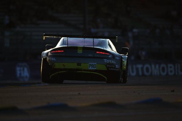 2017 Le Mans 24 Hours Circuit de la Sarthe, Le Mans, France. Saturday 17 June 2017 #95 Aston Martin Racing Aston Martin Vantage: Nicki Thiim, Marco Sorensen, Richie Stanaway World Copyright: Rainier Ehrhardt/LAT Images ref: Digital Image 24LM-re-10266