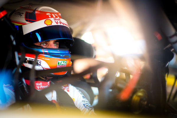 2017 Supercars Championship Round 6.  Darwin Triple Crown, Hidden Valley Raceway, Northern Territory, Australia. Friday June 16th to Sunday June 18th 2017. Fabian Coulthard driver of the #12 Shell V-Power Racing Team Ford Falcon FGX. World Copyright: Daniel Kalisz/LAT Images Ref: Digital Image 180617_VASCR6_DKIMG_4346.jpg