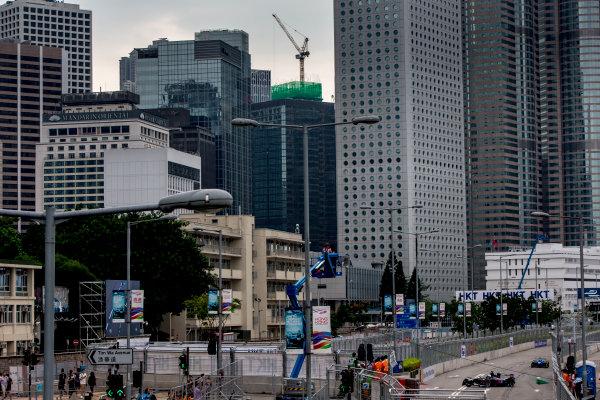 2016/2017 FIA Formula E Championship. Hong Kong ePrix, Hong Kong, China. Saturday 8 October 2016. Maro Engel (GER), Venturi, Spark-Venturi, Venturi VM200-FE-02.  Photo: Zak Mauger/LAT/Formula E ref: Digital Image _L0U0550