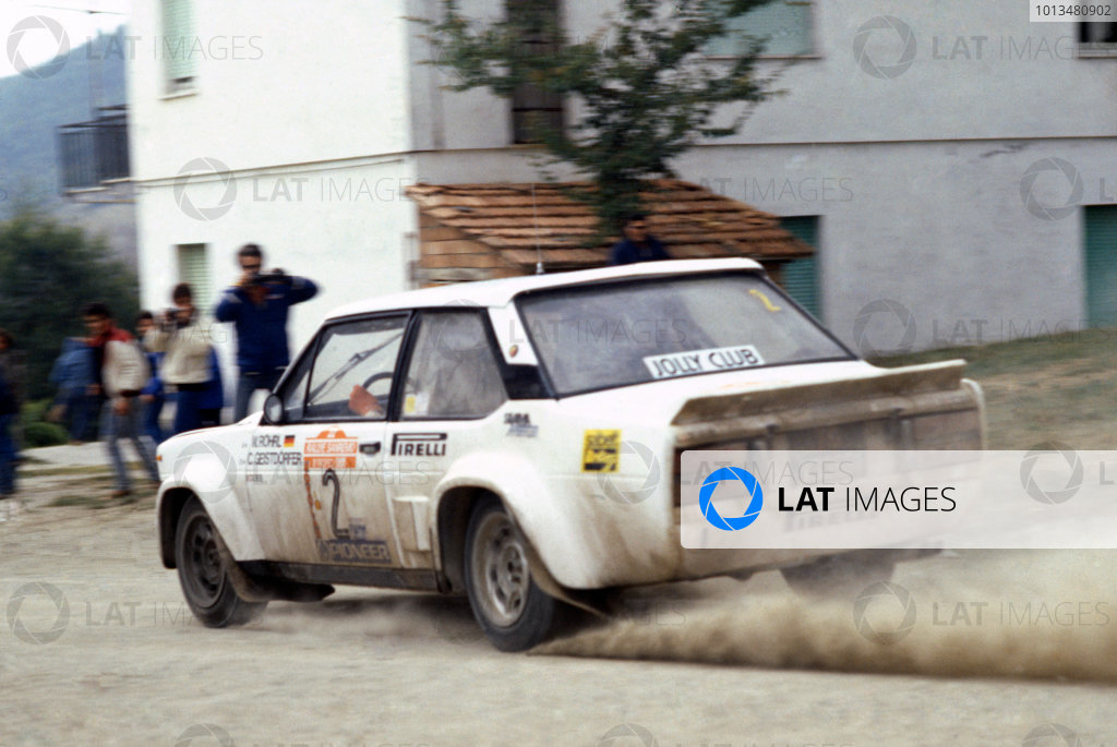Sanremo Rally, Italy. 6-11 October 1980.Walter Rohrl/Christian Geistdorfer (Fiat 131 Abarth), 1st position.World Copyright: LAT PhotographicRef: 35mm transparency 80RALLY07