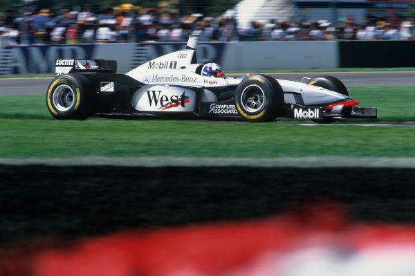 Albert Park, Melbourne, Australia. 7-9 March 1997. David Coulthard (McLaren MP4/12 Mercedes) 1st position. Ref: 97 AUS 03. World Copyright - LAT Photographic