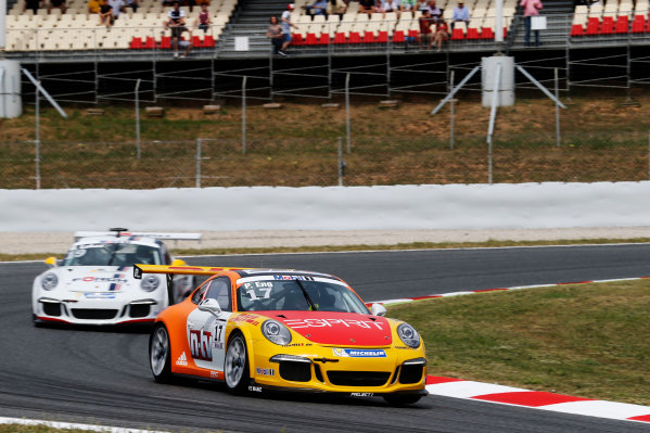 Circuit de Catalunya, Barcelona, Spain. Sunday 10 May 2015. Philipp Eng, No.17 Market Leader by Project 1, leads Robert Lukas, No.19 Förch Racing by Lukas MS. World Copyright: Steven Tee/LAT Photographic. ref: Digital Image _L4R9667
