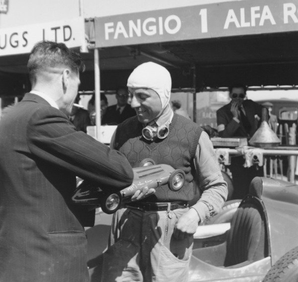 1950 British Grand Prix.Silverstone, Great Britain. 13 May 1950.Guidotti (Alfa Romeo). Ref-C26695.World Copyright - LAT Photographic