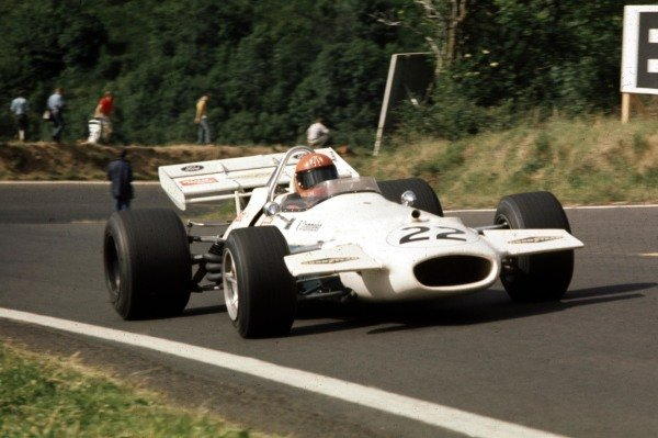 1970 French Grand Prix.Clermont-Ferrand, France.3-5 July 1970.Rolf Stommelen (Brabham BT33 Ford) 7th position.Ref-70 FRA 12.World Copyright - LAT Photographic