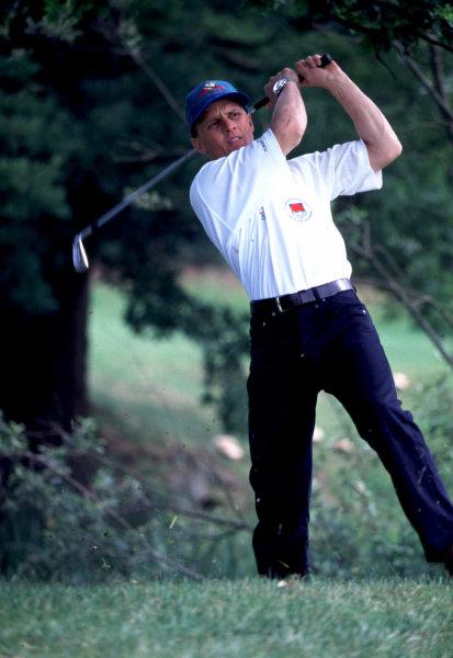 1997 British Grand Prix Pro-Am Golf Tournament. Warwickshire, England.Johnny Herbert.World Copyright - LAT Photographic