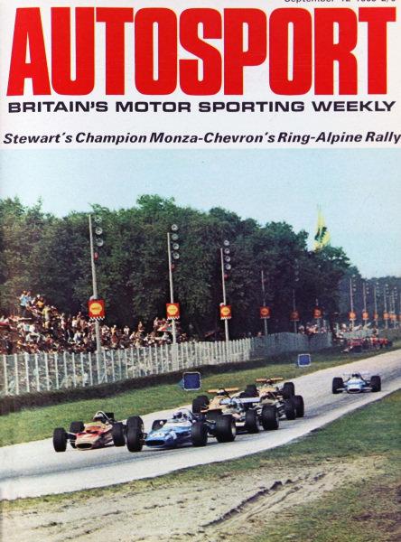 Cover of Autosport magazine, 12th September 1969