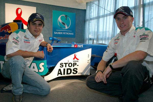2002 American Grand PrixIndianapolis, USA. 26th September 2002.Felipe Massa and Nick Heidfeld.World Copyright - Pan Images/LAT Photographicref: Digital File Only