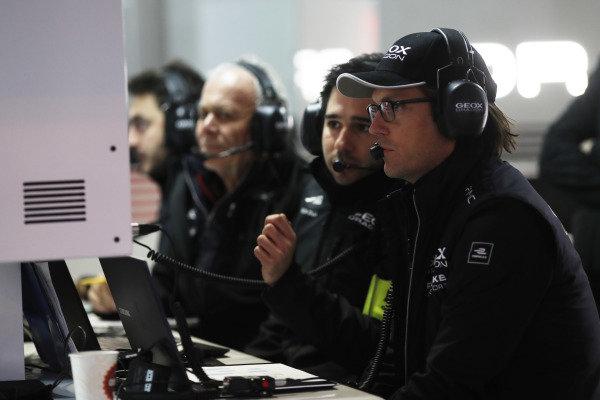 Jay Penske in the Dragon Racing garage