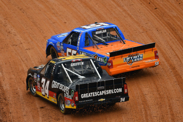 #56: Mike Marlar, Hill Motorsports, Chevrolet Silverado LIftKits4Less.com and #34: Jake Griffin, Reaume Brothers Racing, Toyota Tundra Great Escapes RV Center