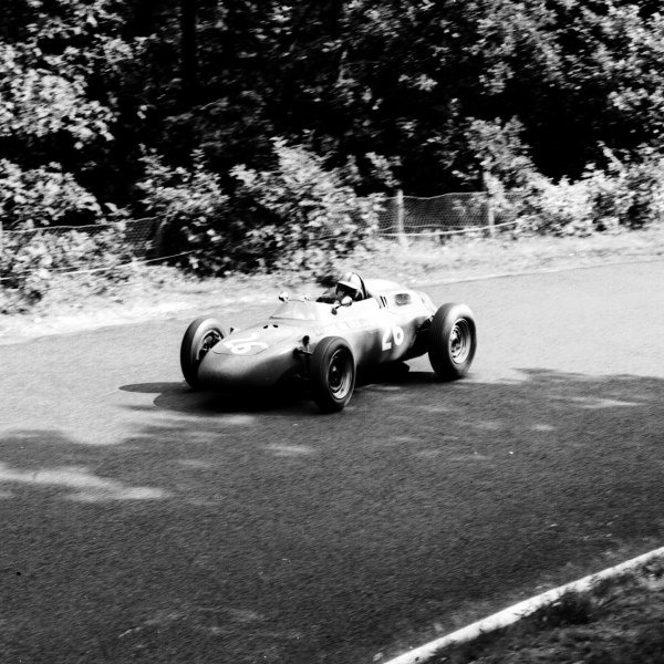 1963 German Grand Prix.Nurburgring, Germany.2-4 August 1963.Gerhard Mitter (Porsche 718) 4th position.Ref-20663.World Copyright - LAT Photographic