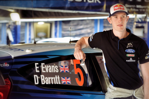Elfyn Evans (GBR) Ford Fiesta RS WRC at FIA World Rally Championship, Rd12, RAAC Rally de Espana, Preparations and Shakedown, Costa Daurada, Catalunya, Spain, 22 October 2015.