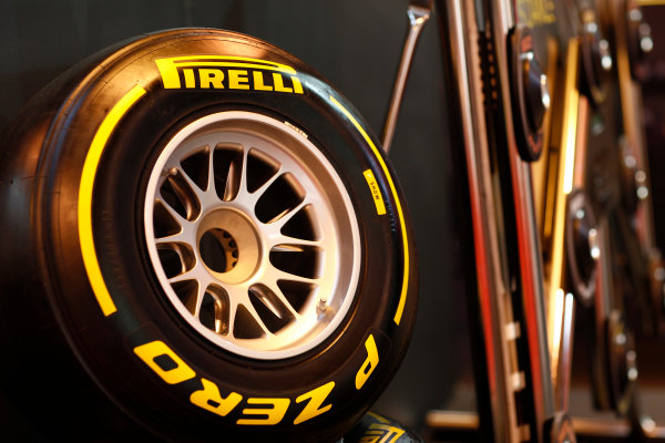 Autosport International Show NEC, Birmingham.  Sunday 12 January 2014. Pirelli tyre. World Copyright:Adam Warner/LAT Photographic ref: Digital Image _MG_8226