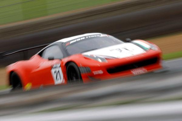 Brands Hatch, Kent. 23rd - 24th June 2012.Duncan Cameron/Matt Griffin Mtech Ferrari 458 Italia.World Copyright: Ebrey/LAT Photographic.