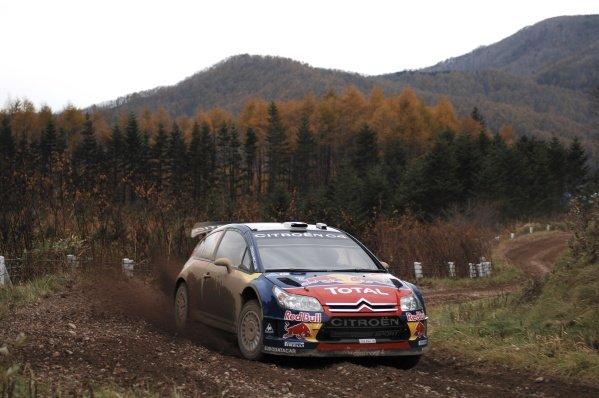 Sebastien Loeb (FRA), Citroen C4 WRC, on stage 6.World Rally Championship, Rd14, Rally Japan, Sapporo, Japan, Day One, Friday 31 October 2008.