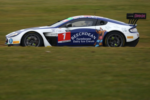 2016 British GT Championship, Media Day, Snetterton, 15 March 2016. Andrew Howard / Ross Gunn Beechdean AMR Aston Martin Vantage GT3 World copyright. Jakob Ebrey/LAT Photographic