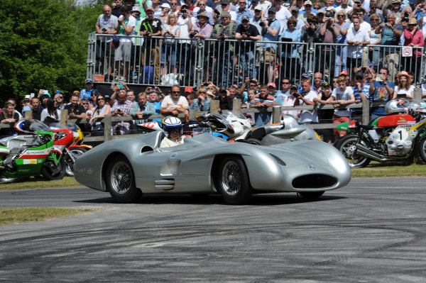 2015 Goodwood Festival of Speed 25th - 28th June 2015 Jochen Mass Mercedes W196 Streamliner World Copyright : Jeff Bloxham/LAT Photographic Ref : Digital Image
