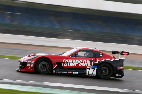 2017 Ginetta GT4 Championship, Silverstone, Northants, UK. 16th-17th September 2017 Seb Perez Rob Boston Racing Ginetta G55 World copyright. JEP/LAT Images