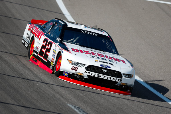 NASCAR XFINITY Series Kansas Lottery 300 Kansas Speedway, Kansas City, KS USA Friday 20 October 2017 Ryan Blaney, Discount Tire Ford Mustang World Copyright: Barry Cantrell LAT Images