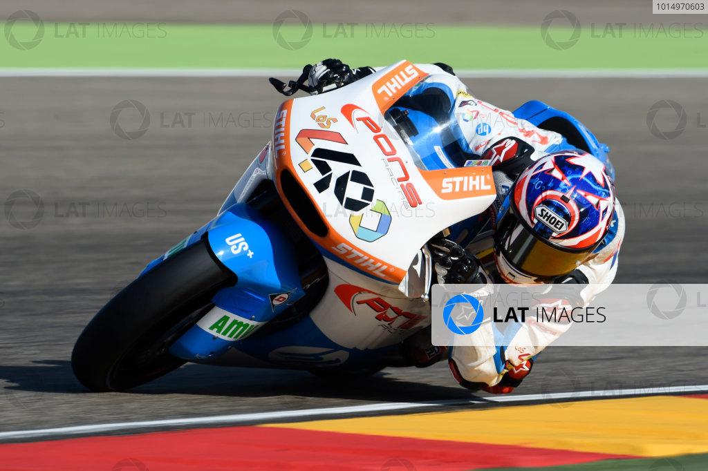 2017 Moto2 Championship - Round 14 Aragon, Spain. Saturday 23 September 2017 Fabio Quartararo, Pons HP 40 World Copyright: Gold and Goose / LAT Images ref: Digital Image 13796