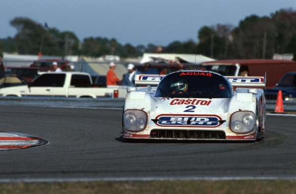 Scott Pruett (USA) TWR Jaguar XJR-12D, 2nd place. IMSA GTP Championship, Rd1, Daytona 24 Hours, Daytona Beach, Florida, USA. 2 January 1992. BEST IMAGE