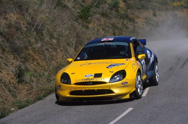 Martin Rowe (GBR) kicks up the dust during the Rally Catalunya in his 1600cc Ford Puma Junior World Rally car.
