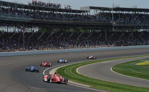 27 May, 2012, Indianapolis, IndianaScott Dixon, #9 Target Chip Ganassi Racing Honda through turn one(c)2012 Dan R. Boyd LAT Photo USA