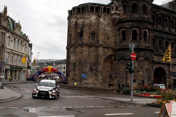 Round 09-Rallye Deutschland 23-26/8-2012.Michal Kosciuszko, Mitsubishi PWRC, Action.Worldwide Copyright: McKlein/LAT