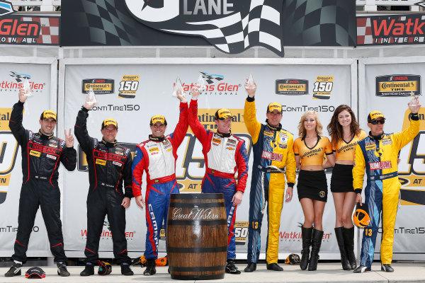 26-28 June, 2014, Watkins Glen, New York USA GS class podium ©2014, Michael L. Levitt LAT Photo USA