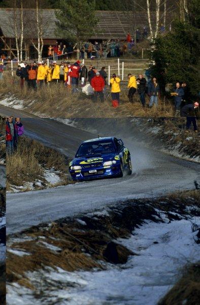 1997 World Rally Championship.Swedish Rally, Sweden. 7-10 February 1997.Kenneth Eriksson/Staffan Parmander (Subaru Impreza WRC), 1st position.World Copyright: LAT PhotographicRef: 35mm transparency 97RALLY02