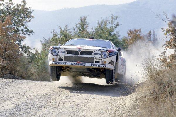 1985 World Rally Championship.Sanremo Rally, Italy. 29 September-4 October 1985.Henri Toivonen/Juha Piironen (Lancia Rally 037), 3rd position.World Copyright: LAT PhotographicRef: 35mm transparency 85RALLY18