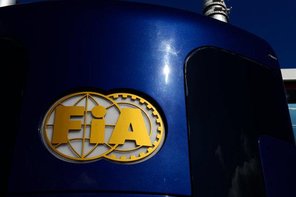 Silverstone, Northamptonshire, England 30th June 2013 The FIA motorhome in the Paddock World Copyright: Chris Bird/  ref: Digital Image _DSC1726