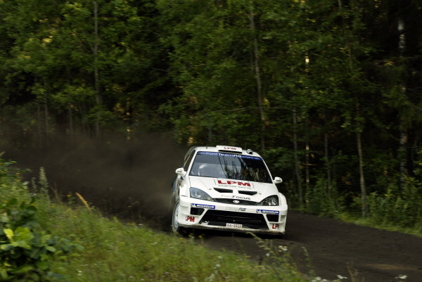 2004 FIA World Rally Champs. Round nine, Neste Rally Finland.5th - 8th August 2004.Janne Tuohino, Ford, action.World Copyright: McKlein/LAT