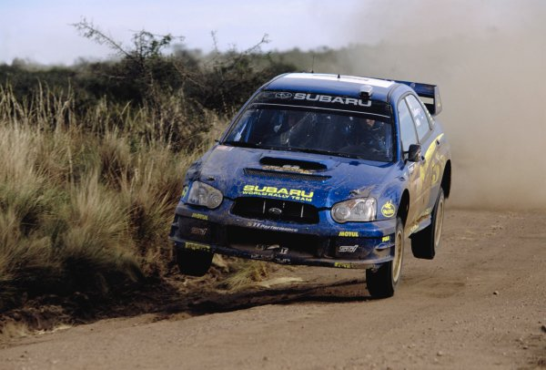 2003 World Rally ChampionshipRally Argentina, Cordoba, Argentina, 7th - 11th May 2003.Petter Solberg/Philip Mills (Subaru Impreza WRC 2003), action.World Copyright: LAT Photographicref: 03WRCArg21