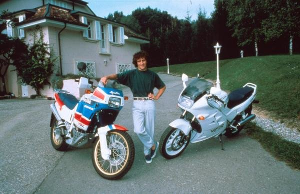 Alain Prost at home in Yens, Switzerland.Formula One Drivers At Home.