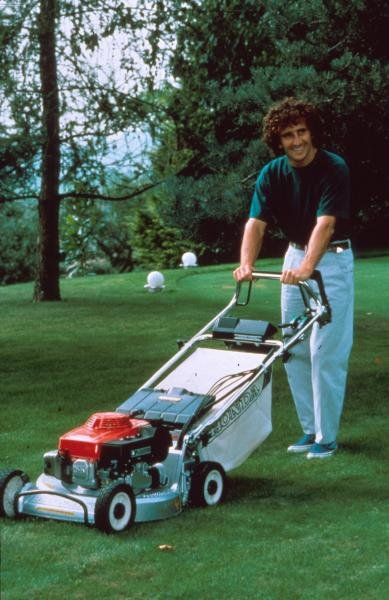 Alain Prost at home in Yens, Switzerland.Foemula One Drivers At Home.