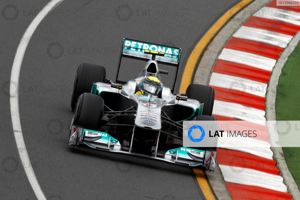 Albert Park, Melbourne, Australia25th March 2011.Nico Rosberg, Mercedes GP W02.World Copyright: Andrew Ferraro/LAT Photographicref: Digital Image _Q0C7876