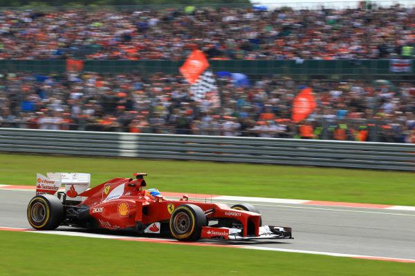Fernando Alonso (ESP) Ferrari F2012.Fernando Alonso (ESP) Ferrari F2012. Formula One World Championship, Rd9, British Grand Prix, Race, Silverstone, England, Sunday 8 July 2012.