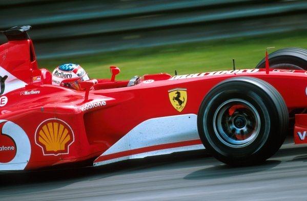 Rubens Barrichello (BRA) Ferrari F2002. Formula One World Championship, Rd6, Austrian Grand Prix, A1-Ring, Austria. 12 May 2002. BEST IMAGE