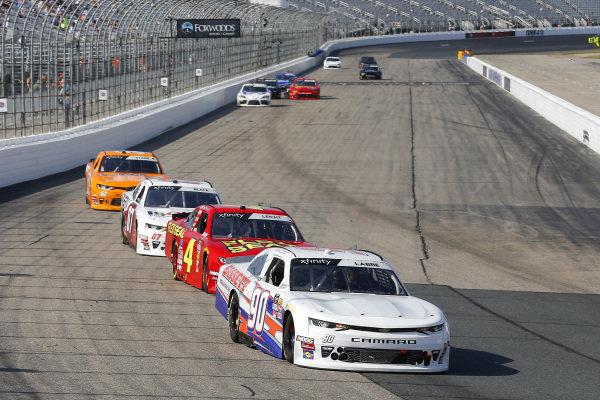 #90: Alex Labbe, DGM Racing, Chevrolet Camaro Bassett Gutters & More and #4: B.J. McLeod, JD Motorsports, Chevrolet Camaro Flex Seal / Contec