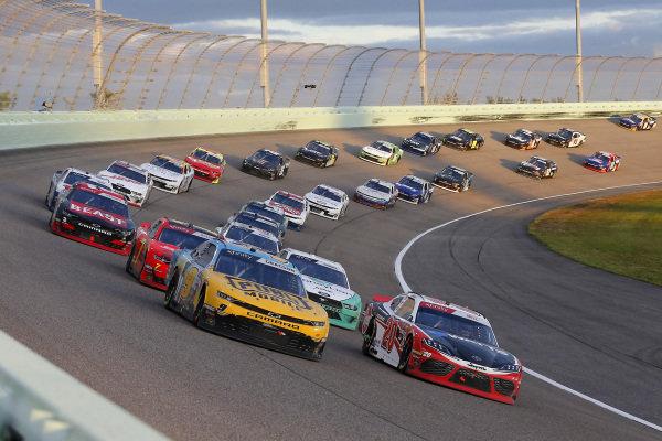 #20: Christopher Bell, Joe Gibbs Racing, Toyota Supra Rheem-Watts and #9: Noah Gragson, JR Motorsports, Chevrolet Camaro PUBG MOBILE restart