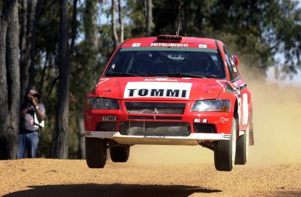 2001 World Rally ChampionshipTelstra Rally Australia, Perth, WA. 1-4 November 2001.Tommi Makinen during shakedown.Photo: Ralph Hardwick/LAT
