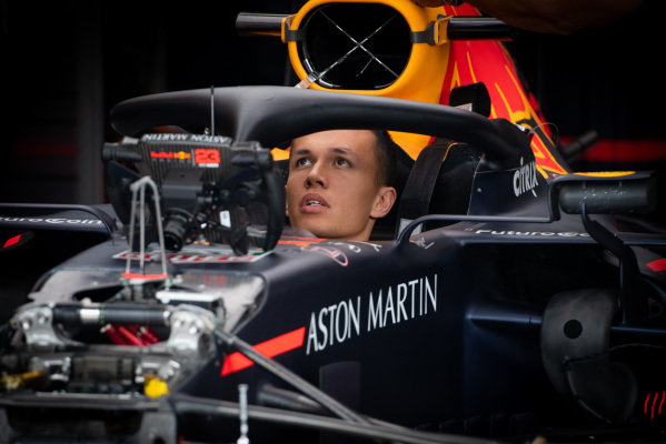 Alexander Albon, Red Bull Racing in the garage
