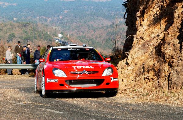2002 World Rally ChampionshipRally Catalunya, 21st-24th March 2002.Sebastien Loeb during shakedown.Photo: Ralph Hardwick/LAT
