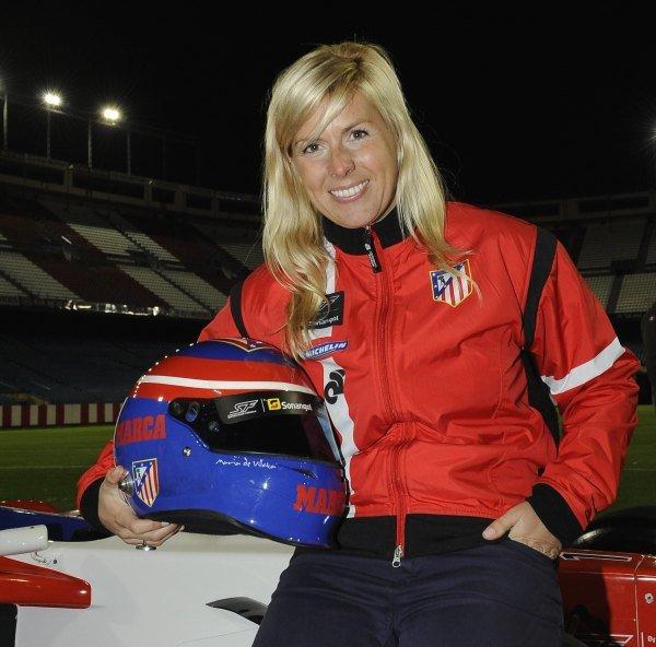 Maria de Villota (ESP) was named as a driver for the Atletico Madrid Superleague Formula team. Superleague Formula, Vicente Calderon Stadium, Madrid, 5 November 2009.