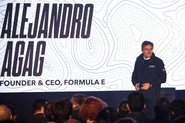 Alejandro Agag, CEO, Formula E, at the Extreme E Launch