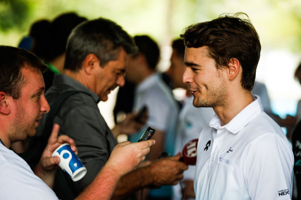 Tom Dillmann (FRA), NIO Formula E Team talks to the press