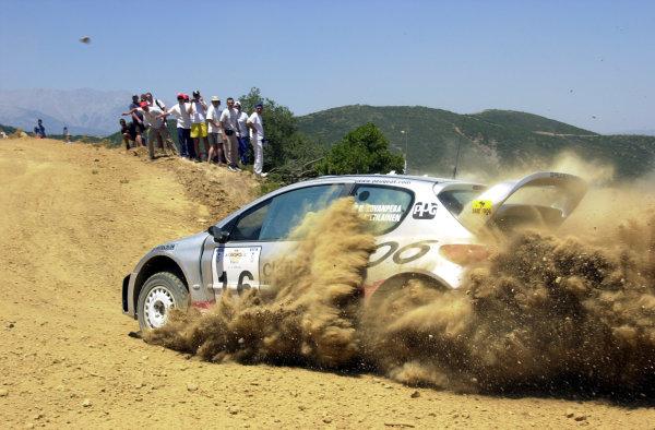 2001 World Rally Championship.Acropolis Rally June 14-17, 2001.Harri Rovanpera on stage 9.Photo: Ralph Hardwick/LAT